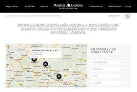 Maurice Lacroix Konzession Screenshot