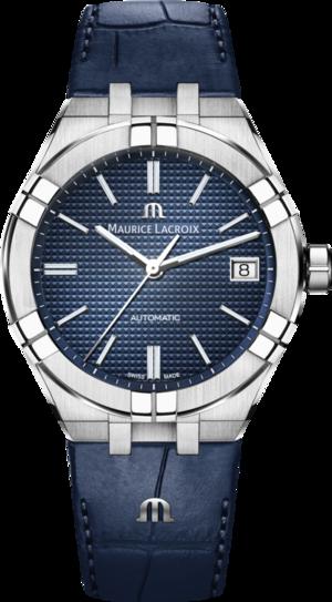 Herrenuhr Maurice Lacroix Aikon Automatic mit blauem Zifferblatt und Kalbsleder-Armband