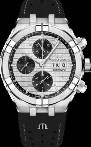 Herrenuhr Maurice Lacroix Aikon Automatic mit silberfarbenem Zifferblatt und Kalbsleder-Armband