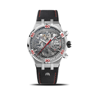 Maurice Lacroix Herrenuhr Aikon Automatik Skeletierter Chronograph Special Edition Mahindra Racing AI6098-SS001-091-2