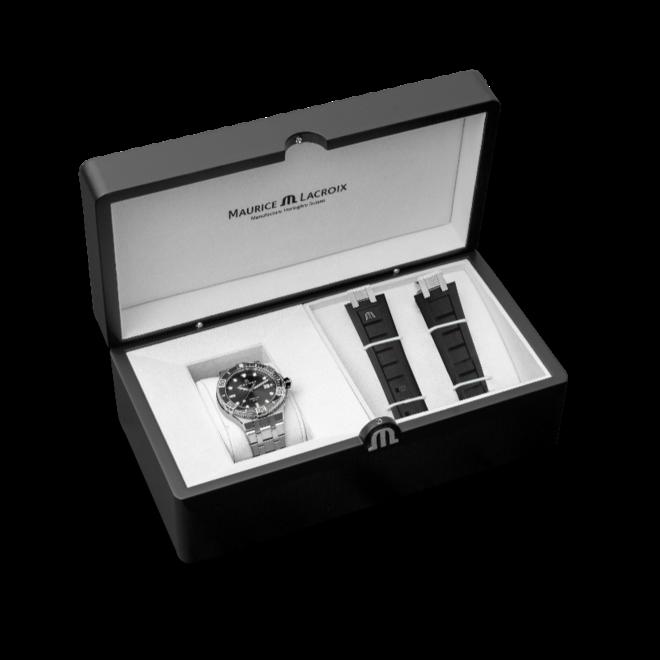 Herrenuhr Maurice Lacroix Venturer Automatic Set mit schwarzem Zifferblatt und Edelstahlarmband bei Brogle