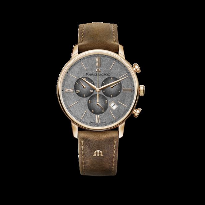 Herrenuhr Maurice Lacroix Eliros Chronograph 40mm mit anthrazitfarbenem Zifferblatt und Kalbsleder-Armband bei Brogle