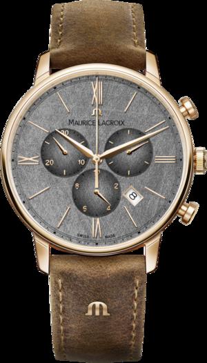 Herrenuhr Maurice Lacroix Eliros Chronograph 40mm mit anthrazitfarbenem Zifferblatt und Kalbsleder-Armband