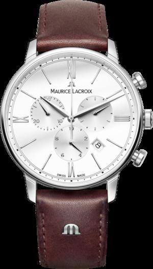 Herrenuhr Maurice Lacroix Eliros Chronograph mit weißem Zifferblatt und Kalbsleder-Armband