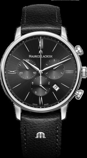 Herrenuhr Maurice Lacroix Eliros Chronograph mit schwarzem Zifferblatt und Kalbsleder-Armband