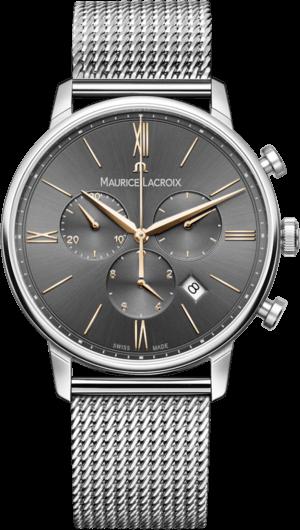 Herrenuhr Maurice Lacroix Eliros Chronograph mit grauem Zifferblatt und Edelstahlarmband