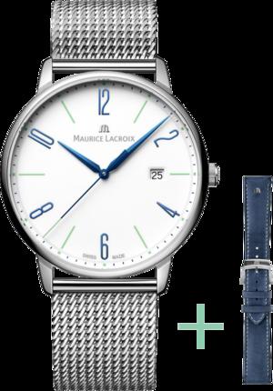 Armbanduhr Maurice Lacroix Eliros Date 40mm 25th Anniversary mit weißem Zifferblatt und Edelstahlarmband