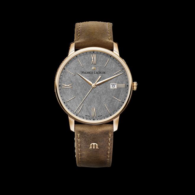 Herrenuhr Maurice Lacroix Date 40mm mit grauem Zifferblatt und Kalbsleder-Armband bei Brogle