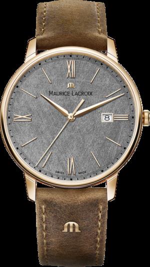 Herrenuhr Maurice Lacroix Date 40mm mit grauem Zifferblatt und Kalbsleder-Armband