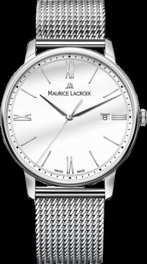 Herrenuhr Maurice Lacroix Eliros Date 40mm mit weißem Zifferblatt und Edelstahlarmband