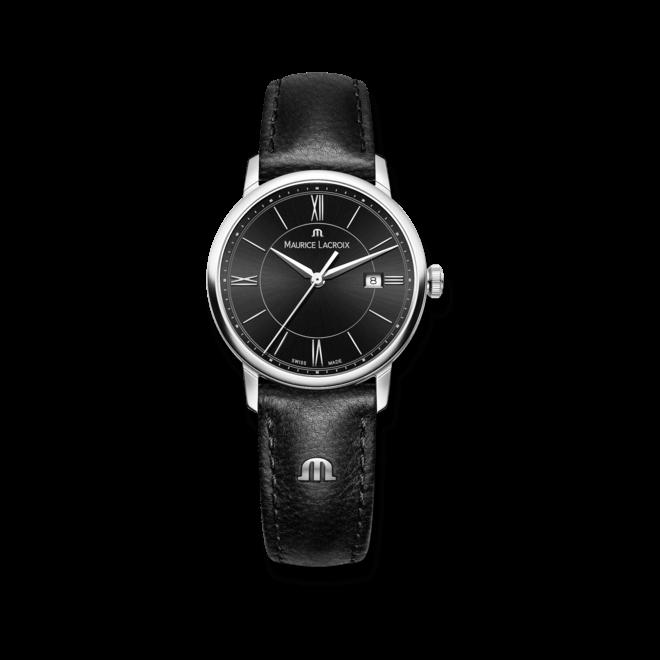 Damenuhr Maurice Lacroix Eliros Date Ladies mit schwarzem Zifferblatt und Kalbsleder-Armband