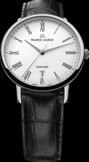 Herrenuhr Maurice Lacroix Les Classiques Tradition Gents mit weißem Zifferblatt und Alligatorenleder-Armband