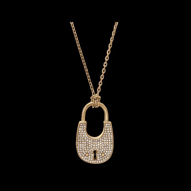 Halskette mit Anhänger Michael Kors Brilliance aus Edelstahl ionenbeschichtet mit Glasstein