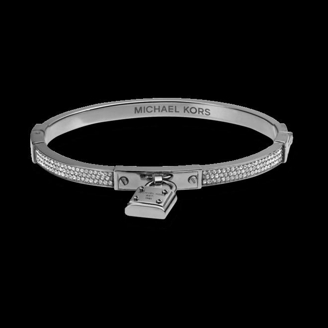 Armreif Michael Kors Logo aus Edelstahl mit mehreren Glassteinen