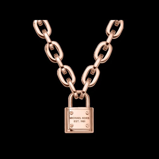 Halskette mit Anhänger Michael Kors Logo aus Edelstahl ionenbeschichtet