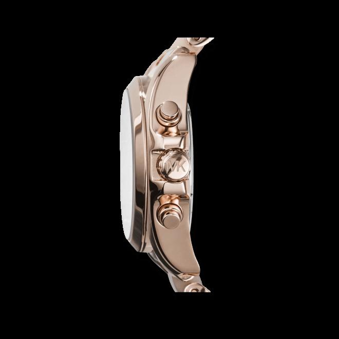 Damenuhr Michael Kors Bradshaw 36mm mit roséfarbenem Zifferblatt und Edelstahlarmband