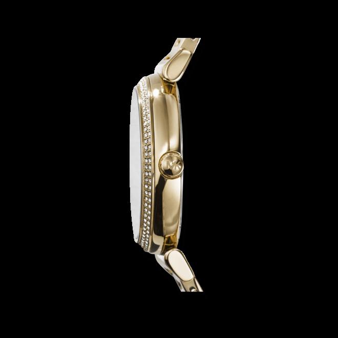 Damenuhr Michael Kors Catlin 38mm mit weißem Zifferblatt und Edelstahlarmband