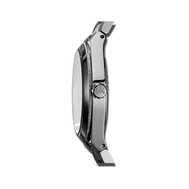 Damenuhr Michael Kors Channing 38mm mit silberfarbenem Zifferblatt und Edelstahlarmband