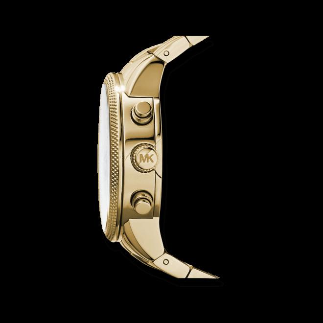 Damenuhr Michael Kors Chronograph Quarz 36mm mit gelbgoldfarbenem Zifferblatt und Edelstahlarmband