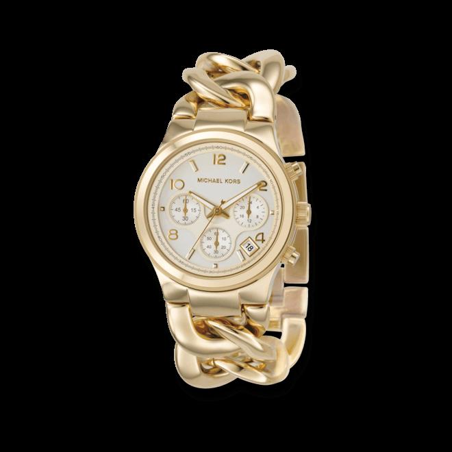 Damenuhr Michael Kors Chronograph Quarz 38mm mit champagnerfarbenem Zifferblatt und Edelstahlarmband