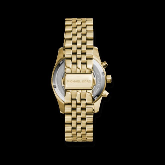 Damenuhr Michael Kors Chronograph Quarz 38mm mit gelbgoldfarbenem Zifferblatt und Edelstahlarmband