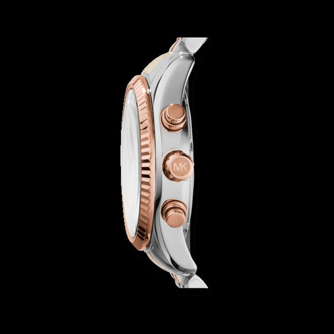 Damenuhr Michael Kors Chronograph Quarz 38mm mit silberfarbenem Zifferblatt und Edelstahlarmband