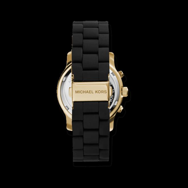 Damenuhr Michael Kors Chronograph Quarz 39mm mit schwarzem Zifferblatt und Edelstahlarmband