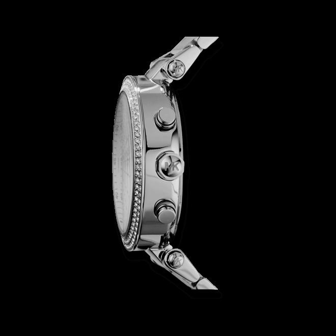 Damenuhr Michael Kors Chronograph Quarz 39mm mit silberfarbenem Zifferblatt und Edelstahlarmband