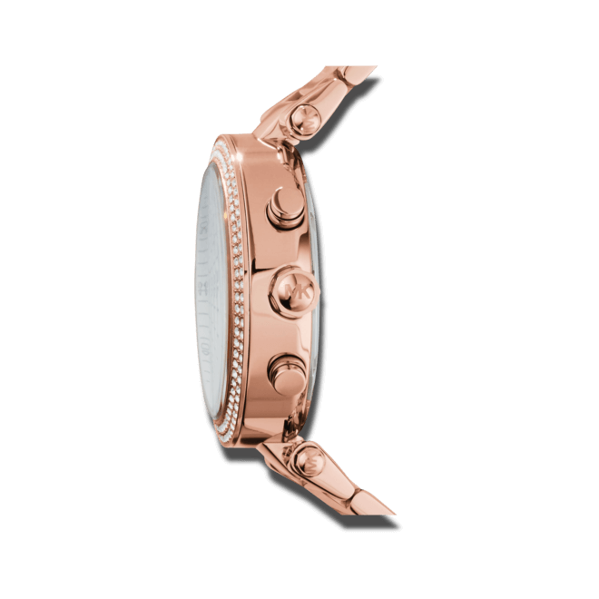 Damenuhr Michael Kors Chronograph Quarz 39mm mit weißem Zifferblatt und Edelstahlarmband