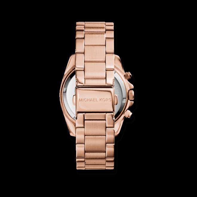 Damenuhr Michael Kors Chronograph Quarz 42mm mit roséfarbenem Zifferblatt und Edelstahlarmband