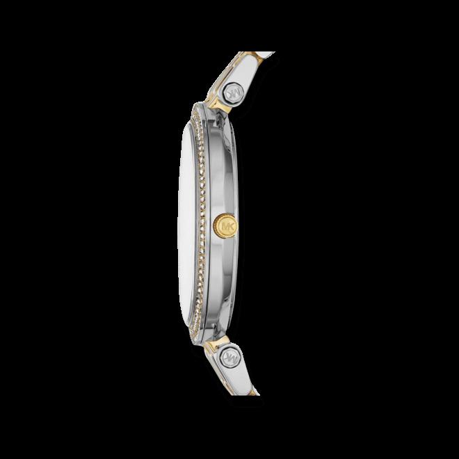 Damenuhr Michael Kors Darci 39mm mit silberfarbenem Zifferblatt und Edelstahlarmband