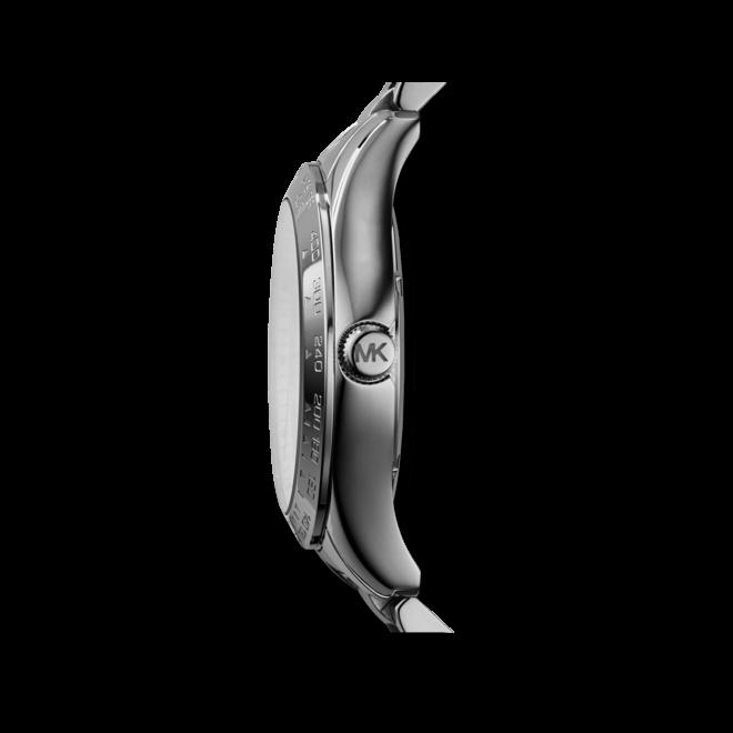 Damenuhr Michael Kors Layton 43,5mm mit silberfarbenem Zifferblatt und Edelstahlarmband