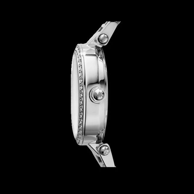Damenuhr Michael Kors Parker 33mm mit silberfarbenem Zifferblatt und Edelstahlarmband