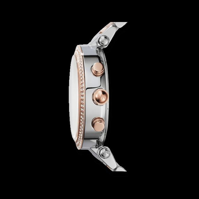 Damenuhr Michael Kors Parker 39mm mit perlmuttfarbenem Zifferblatt und Edelstahlarmband