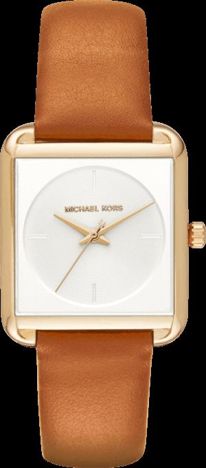 Damenuhr Michael Kors Quarz 32 x 20 x 8mm mit weißem Zifferblatt und Kalbsleder-Armband