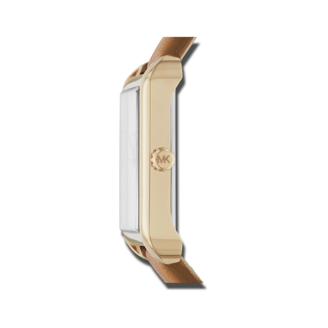 Damenuhr Michael Kors Quarz 32mm mit weißem Zifferblatt und Kalbsleder-Armband