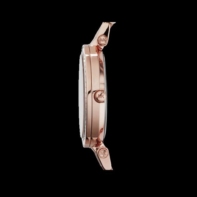 Damenuhr Michael Kors Quarz 33mm mit rosafarbenem Zifferblatt und Edelstahlarmband
