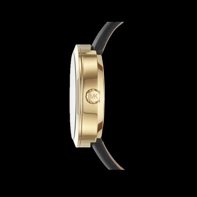 Damenuhr Michael Kors Quarz 39mm mit champagnerfarbenem Zifferblatt und Kalbsleder-Armband