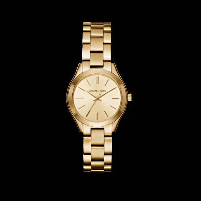 Armbanduhr Michael Kors Quarz 39mm mit champagnerfarbenem Zifferblatt und Edelstahlarmband