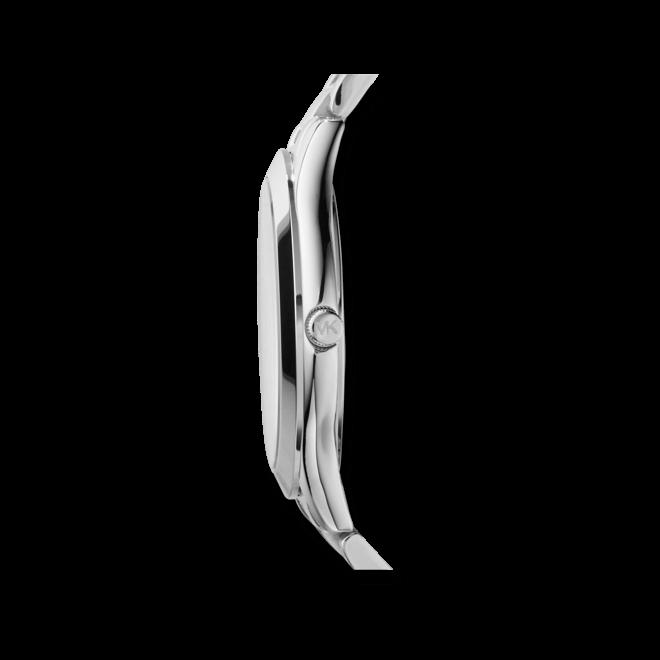 Damenuhr Michael Kors Quarz 42mm mit silberfarbenem Zifferblatt und Edelstahlarmband