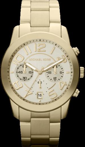 Damenuhr Michael Kors Quarz Chronograph 41,5mm mit champagnerfarbenem Zifferblatt und Edelstahlarmband