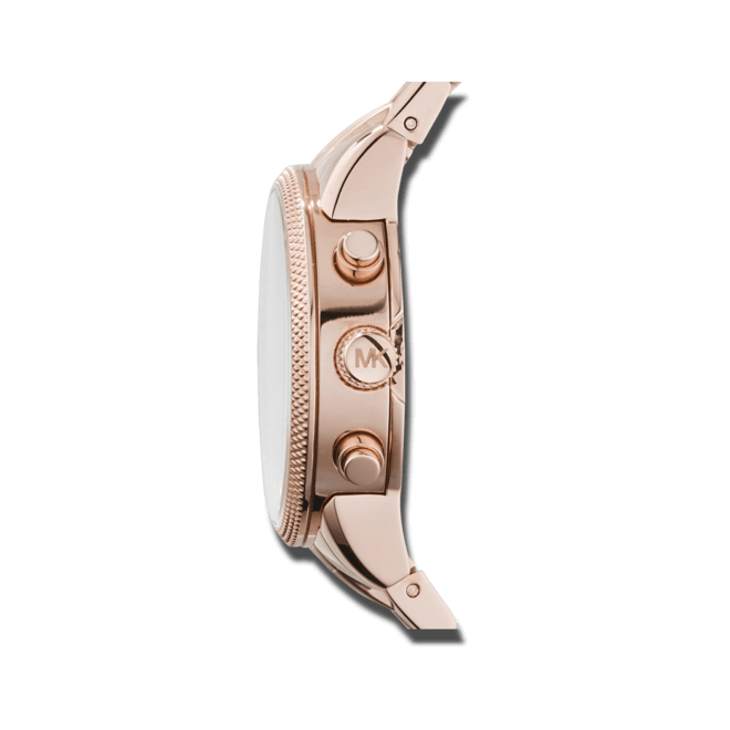 Damenuhr Michael Kors Ritz 37mm mit roséfarbenem Zifferblatt und Edelstahlarmband