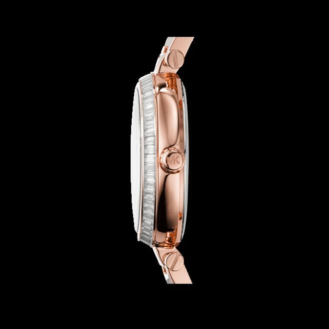 Damenuhr Michael Kors Skylar 28mm mit roséfarbenem Zifferblatt und Edelstahlarmband