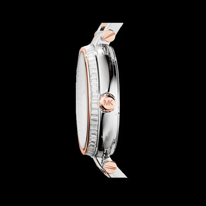 Damenuhr Michael Kors Skylar 41,5mm mit schwarzem Zifferblatt und Edelstahlarmband
