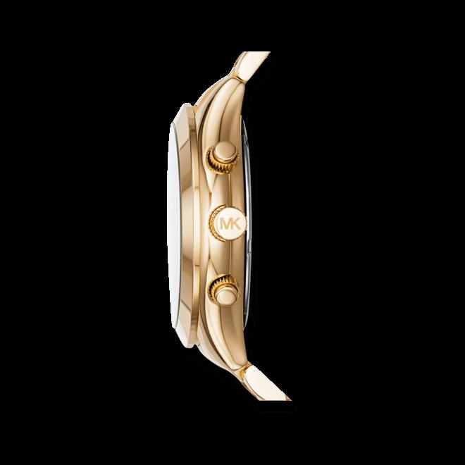 Damenuhr Michael Kors Slim Runway 42mm mit champagnerfarbenem Zifferblatt und Edelstahlarmband