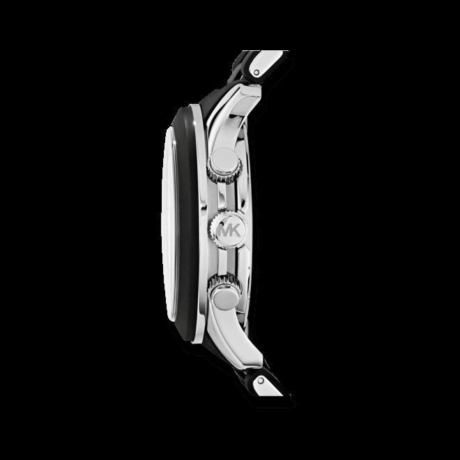 Herrenuhr Michael Kors Chronograph Quarz 45mm mit schwarzem Zifferblatt und Edelstahlarmband