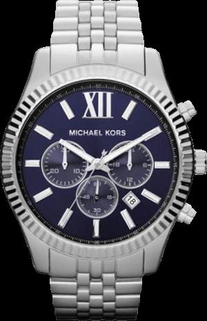 Herrenuhr Michael Kors Chronograph Quarz 45mm mit blauem Zifferblatt und Edelstahlarmband