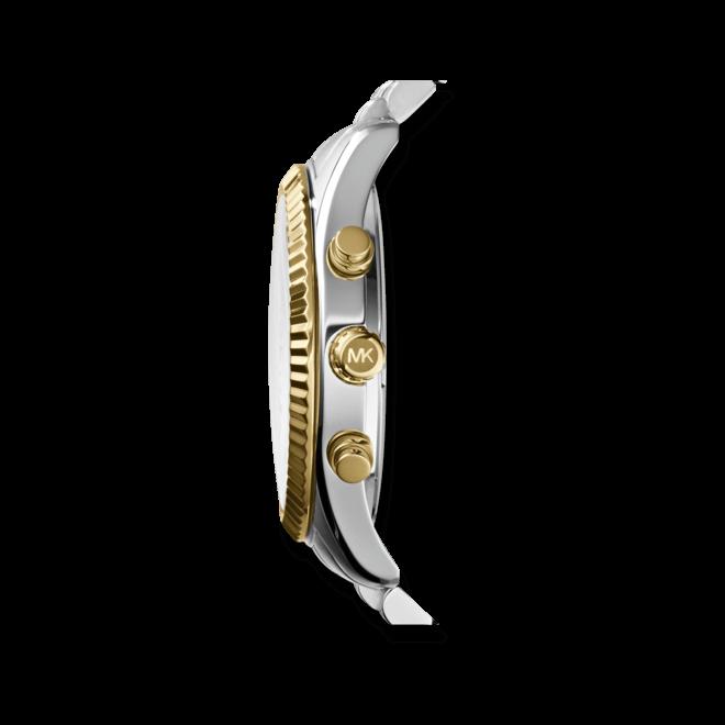 Herrenuhr Michael Kors Quarz Chronograph 45mm mit silberfarbenem Zifferblatt und Edelstahlarmband