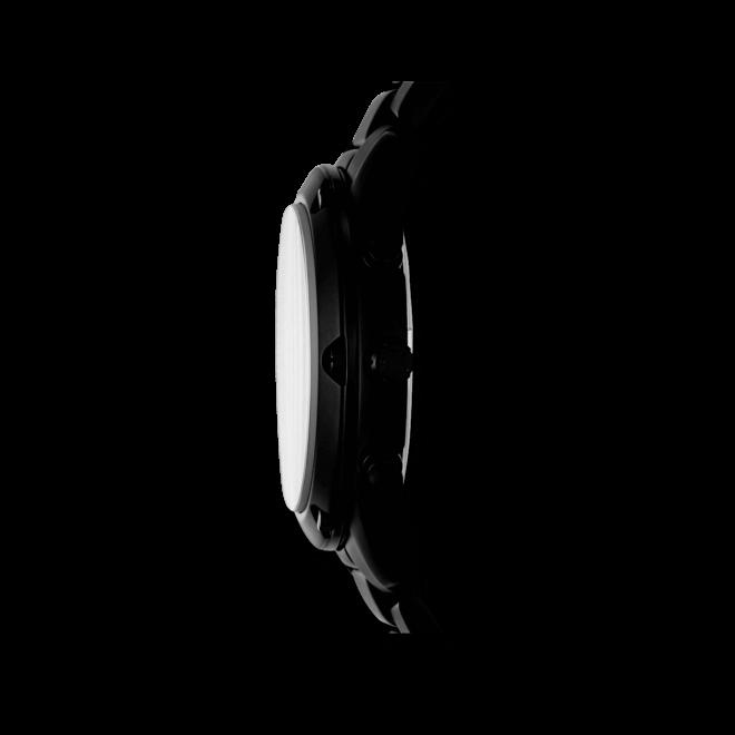 Herrenuhr Michael Kors Quarz Chronograph 45mm mit schwarzem Zifferblatt und Edelstahlarmband