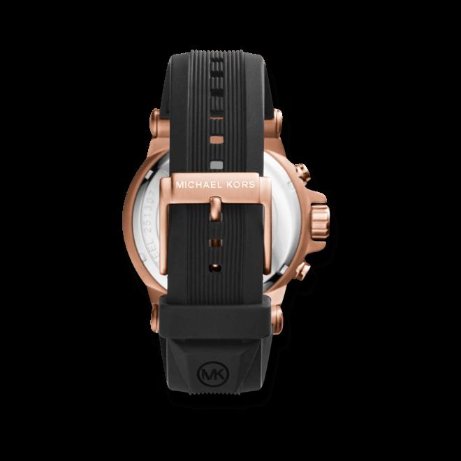 Herrenuhr Michael Kors Quarz Chronograph 48mm mit schwarzem Zifferblatt und Silikonarmband